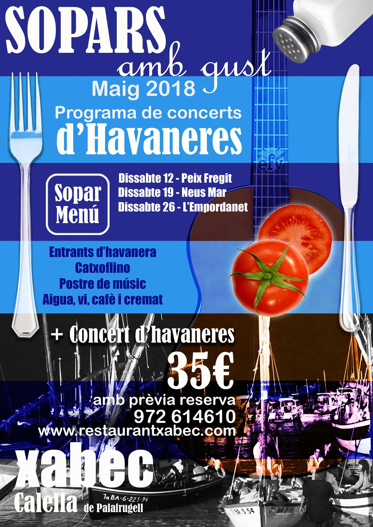 Sopars amb gust 2018 | Restaurant Xabec